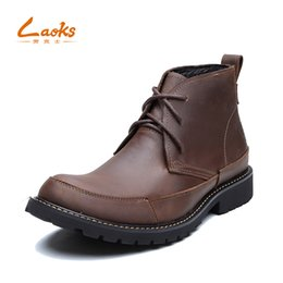 Wholesale Head Men Boots - Genuine Leather shoesmen bootsThe round head layer cowhide leisure fashion boots, For all occasions and low-heeled