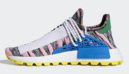 3b9b9e95e 2018 Hottest Sale Pharrell NMD Hu Solar Pack Men Women Running Shoes Bright  Blue Outdoor M1L3L3 Sneakers Trainers Sports Shoes BB9531 Box