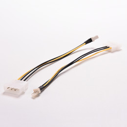 computer pin connectors Promo Codes - 2PCS 20cm 4 Pin Molex IDE to 3 Pin PC Computer CPU Case Fan Power Connector Cable Adapter