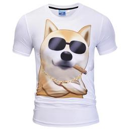 Veru Engraçado Estilo T-shirt dos homens de Verão Tees 3d Impressão de T-shirt  Óculos Fumando Urso T shirt Da Marca Tops óculos ofertas c04c10c180