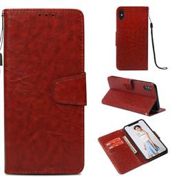 telefones kickstand Desconto Retro pu casos de carteira para o iphone xr x xs max 7 8 plus telefone celular kickstand caso capa flip com cartão de bolso