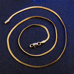 Wholesale Gifts For Gf - Fine Jewelry Free shipping 18k yellow gold GF Snake Chain Necklace For Women And Men Wide 2mm Length 50cm