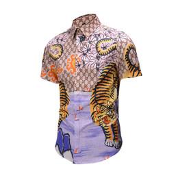 Wholesale rayon twill - byu2018 wave men's printing mixed high-grade leisure Harajuku shirt short-sleeved men's Medusa shirt Asian size M - 2XL