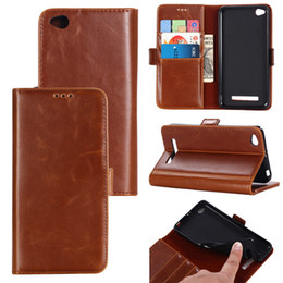 Wholesale Xiaomi Holster - Luxury Genuine Leather Case For Xiaomi Redmi 4A 4X Note 4X NOTE3 NOTE 3PRO NOTE 2 Phone Cover With Card Slot Flip Holster