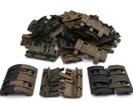 Wholesale handguard covers - 32 pcs lot Tactical Airsoft panels Picatinny rail Handguard cover AR15 M4 AK airsoft handguards Protector Resistant Hunting