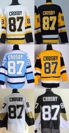 2019 старые хоккейные майки Factory Outlet, Сидни Кросби Джерси Кросби Хоккей Jerseys Дешевые Сидни Кросби Джерси Урожай Черный Throwback Желтый CCM дешево старые хоккейные майки