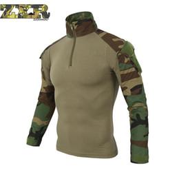 camisa multi camo Rebajas Hombre Cam Camuflaje Multicolor Camisetas Camo Camo Combate Táctica Camiseta Para Hombres Hombres Camiseta de Manga Larga Caza Camisetas