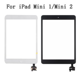 Wholesale Ipad Mini Digitizer Flex - For iPad Mini 1 2 Digitizer Touch Screen With Home Button Flex Cable & Adhesives With Dormancy Function Lifetime Warranty A+++ Quality