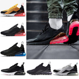 Wholesale Media Photos - 2018 Air Mens 270 Running Shoes 270s Women Sneaker Hot Punch Triple Black White Oreo Teal Photo Blue Sports Sneakers 5.5-11