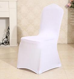 Deutschland Elastische Stühle deckt Schärpe weiße Farbe Hotel Dekor Bankett Feier Mi Zeremonie Büro Dekoration Stretch Bankett Versorgung