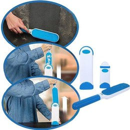 Wholesale Plastic Siding - Pet Dog Cat Fur and Lint Remover With Self-Cleaning Base Double-Sided Brush Removes from Clothes Furniture CCA8790 50pcs
