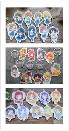 Wholesale Anime School Uniform - 18pcs Cute Japanese anime Lovelive School Project Uniform Candy cookie Anime Fans Keyring Keychain