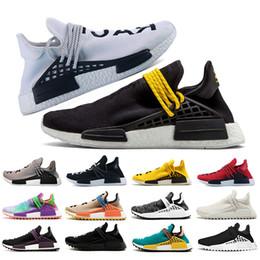 6a7b55882 2018 Pharrell Williams Nmd Human Race mens designer trainers women running  shoes White Black Holi Sun glow Cream Breathble Sports sneakers discount  pharrell ...