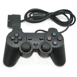 Wholesale Usb Controller For Ps2 - USB Port For Computer Wired Game Handle Controller Single Vibration PS2 Port For PS2 Host Double Shock Joystick Controle Motor Child Gift