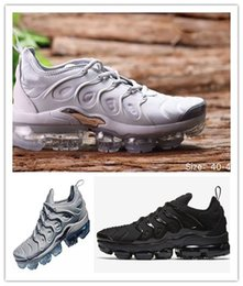 Wholesale Brown Bowtie - 2018 New Vapormax Plus TN Running Shoes 2018 For Men Casual Sneakers Sports Shoes Outdoor Jogging Walking Hiking Athletic Sport Shoes(40-45)