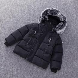 Garotas grossas on-line-Meninos Jacket Outono Inverno Crianças Quente casaco grosso com capuz Casacos Crianças da menina da criança Roupa Boy