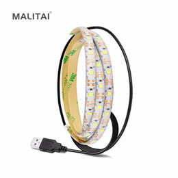 Wholesale Waterproof Desk - USB Power LED Strip light Tape 3528 2835 SMD Decor String Desk lamp Waterproof TV PC Computer Backlight lighting 1M 2M 3M 4M 5M