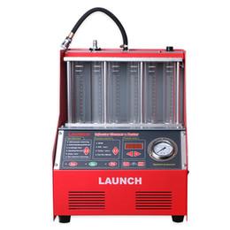Inglês limpo on-line-Lançamento CNC-602A CNC602A 220 V Original Injector Cleaner E Testador Car Auto Ultrasoni Injector Ferramenta de Limpeza Com Painel de Inglês