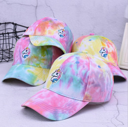 Adult Unicorn Baseball Cap Snapback Cartoon Adjustable Sun Cap Hip hop New  Lovely Summer colorful Hats colorful hip hop cap on sale 3319f852c413