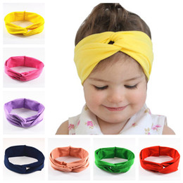 Wholesale Ordering Elastic For Headbands - New Europe wide cross band elastic ribbon for children headbands baby high elastic headband girl flower hair clips with 12 color mix order
