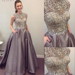 ffa3a27229cc Crystal Beaded A-line Prom Dresses Elegant Formal Dresses Evening Gowns  Long Dresses Evening Wear Berta Vestidos De With Pocket discount berta prom  dresses