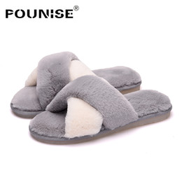 d12b2a4ec02f 2018 Home Slippers Winter Shoes Women Warm Comfort Home Shoes For Women  Indoor Fur slippers Plus sizes 36-41