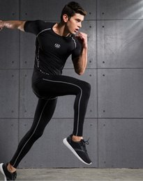 Wholesale Tights Comfortable - New men's fitness wear gym clothing comfortable tights quick-drying leggings male sports running basketball workout pants