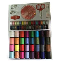 64 Makara Karışık Renkler Dikiş Konuları İğneler Makas Seti Dikiş Araçları Kiti cheap assorted tools nereden çeşitli araçlar tedarikçiler