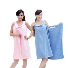 Wholesale Birthday Gifts For Ladies - Microfiber Towel Bathrobes 3 Colors Magic Bath Towls Birthday Gifts For Lady