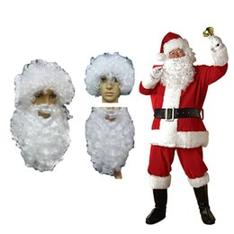 Festival Costume Costume Santa costume Santa pantalon costume chapeau chapeau de barbe Père Noël épaissir barbe Costume Moustache Homme Femmes Enfants Dress Up ? partir de fabricateur