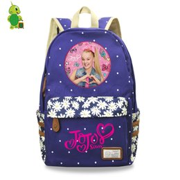 pink bags for flower girl Coupons - Pop Star Jojo Siwa Backpack Flower Wave Point School Bags for Teenagers Girls Daily Backpack Women Casual Travel Bags