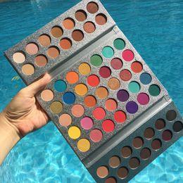 Colores de licuadora de belleza online-Original Beauty Glazed Gorgeous Me 63 Colores EyeShadow Palette Powder Blender Encantadora sombra de ojos Pigmented Professional Makeup