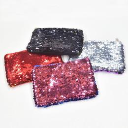 Cerniera cambio borsa online-Fashion New Women Portamonete Sequin Zipper Change Purse Kids Girl Women Bling Coin Bag Titolare della carta Mini Portafoglio Borse per cosmetici
