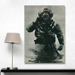 Wholesale Sea Poster Landscape - Wall Art Pictures For Living Room Poster And Prints Modern Canvas Art Oil Painting Deep Sea Diving No Frame