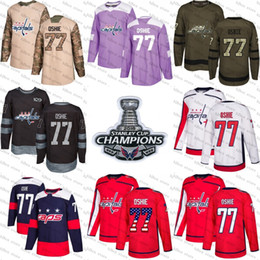 720e4f76b91 2018 Stanley Cup Champions 77 t.j. oshie washington capitals Green red USA  Flag Purple Fights Cancer Practice Camo Veterans Day Jerseys capital jerseys  ...