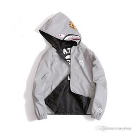 cool sweaters Promo Codes - Mens Shark Hoodie Men Women Fashion Harajuku  Cool Fun Reflective Light 0e371b28d