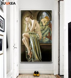 Wholesale Oil Abstract Woman Traditional Painting - HD modern nude sexy woman face oil painting canvas oil painting nude art oil painting decoration picture frameless.