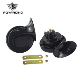 PQY - Vendita calda Long Life Time Corno dell'auto Forte suono Lumaca Horn 12 v Car Styling Parts Tungsteno Point acciaio al manganese Corno auto LB01 da