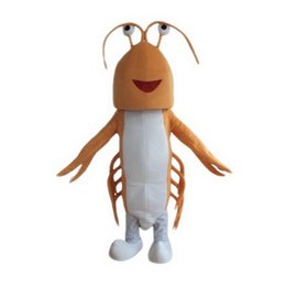 Wholesale Orange Cartoon Pictures - Orange lobster Mascot Costumes Cartoon Character Adult Sz 100% Real Picture 009