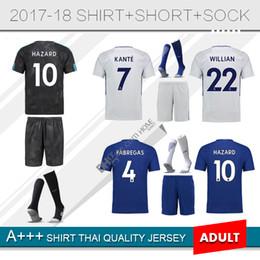 Wholesale Home Wearing - 2018 Thai Quality 17-18 Home 10 Hazard 3 MARCOS A. Soccer Jerseys new 7 Kanté adult sets , soccer wear 11 Pedro 9 Morata