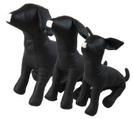Modelos de perro de cuero de PVC Maniquíes de perro mascota Ropa de mascotas Soporte de pantalla Suministros S / M / L = 1set desde fabricantes