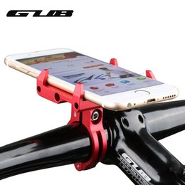 Wholesale universal phone holder for bike - GUB G-85 Adjustable Universal Bike Phone Stand For 3.5-6.2inch Smartphone Aluminum Bicycle Handlebar Holder Mount Bracket