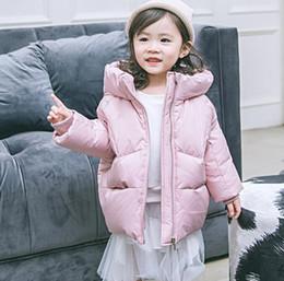 2018 niños gruesos abajo chaqueta marea abanico niñas largas niños pequeños y medianos ropa para niños, otoño e invierno, abrigo al por mayor desde fabricantes
