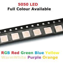 100pcs SMD 5050 RGB Chip LED PLCC-6 smd5050 LED Tricolor 60mA DC 2V Red Green Blue Light Emitting Diode Lamp PCB SMT  от