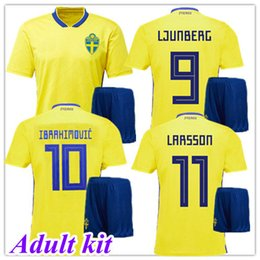 best-jersey-team Rabatt IBRAHIMOVIC Weltmeisterschaft 2018 Schweden Heimtrikot gelb Trikot LJUNGBERG LARSSON beste Qualität 17 18 Fußball-Nationalteams