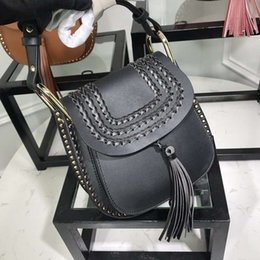 tassel leather handbag Australia - Luxury brand Women Crossbody bag Genuine cow leather Fashion Tassel Rivets designer Shoulder bag Women Evening Party Handbag