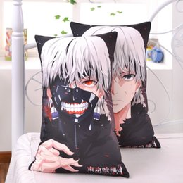 Wholesale Japanese Anime Fabrics - Japanese Anime Tokyo Ghoul Kaneki Ken Hugging Body Pillow Hombre Cool Cartoon Back Pillows Cushion 2WAY Plush Fabric