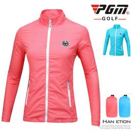 PGM Гольф женская куртка легкий ветровка куртка дамы Гольф одежда с длинным рукавом ветрозащитный обучение спортивная одежда D0506 от