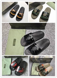 Wholesale Men New Style Sandals - 2018 New style luxury fashion men boys summer camouflage color slippers loafers flats sides designer sandal moccasins casual shoes scuffs