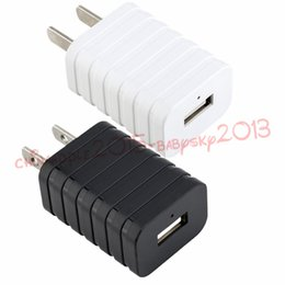 Wholesale intelligent travel - Led light Us ac home travel wall charger 5V 1A Intelligent Smart power adpater for iphone 7 8 x samsung s7 s8 htc android phone